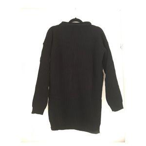 57ca471c589 PLT Dresses - PLT BLACK OVERSIZED KNIT SWEATER DRESS NWT
